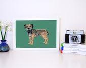 Border Terrier A4 Art Print