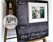 Anniversary Gift, Personalized Picture Frame, Wedding Vows Art, 16x16 The Sugared Plums Frames