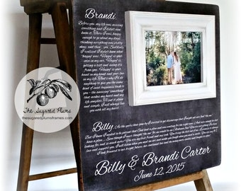 Picture frame wedding vow Etsy