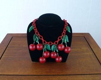 Bakelite Cherry Necklace