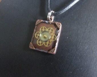 Steampunk Petal Necklace