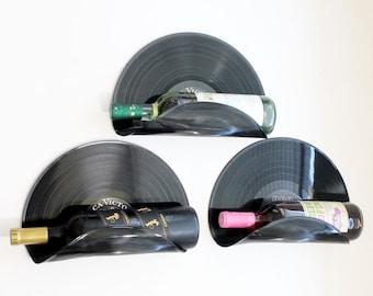 Elvis Presley Upcycled Vinyl Record Wine Rack Wall Organizer - Set of 3