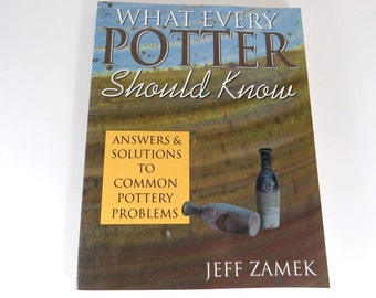 Pottery Book, What Every Potter Should Know, Jeff Zamek, Solutions to Problems, Crafts Hobby