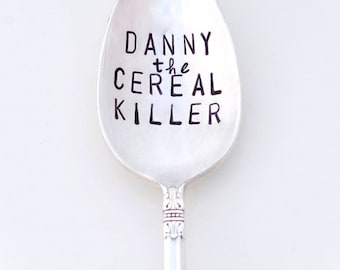 THE ORIGINAL Cereal Killer ™  Spoon by Kelly Galanos for Sycamore Hill. Cereal Killer Spoon Personalized with Name. Choose Size and Font