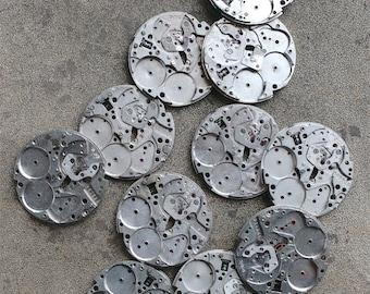 Vintage Watch Plates --  set of 11 -- D18