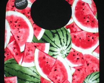 Juicy Watermelon Print Cotton Bib size L