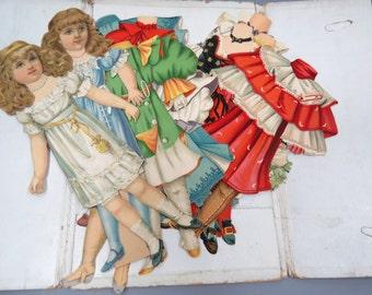 RARE Raphael Tucks Fairy Tale Series Paper Doll Set 1894 - Chromolithograph - Dressing Dolls
