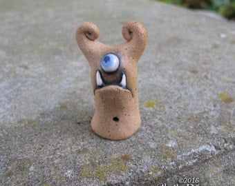 Monster - hand sculpted stoneware ceramic buddy desk pet