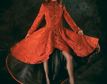 Bridal coat/ frockcoat costume. Made to order, colour of your choice. UK 10-12