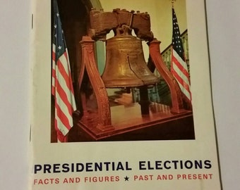 Vintage Presidential Election ephemera booklet, 1963 election booklet