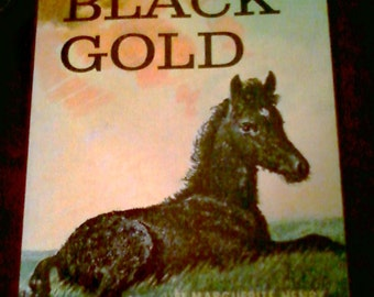 Black Gold by Marguerite Henry,  1977 large paperback,  classic horse story, childrens books