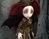 RESERVED Bedelia the Bat Sad Art Doll OOAK Halloween LuLusApple