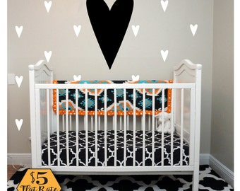 HEART Wall Decal / confetti hearts, heart decal, gold heart wall decal, heart wall decor, wall stickers for girls, gold heart decals, heart