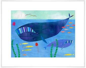 Right Whale Art Print