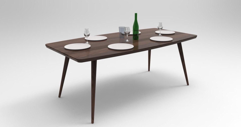 mid century modern walnut dining table walnut table kitchen. Black Bedroom Furniture Sets. Home Design Ideas