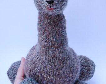 Knit Stuffed Animal Llama Softie - Handmade from Original Pattern
