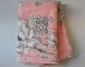 Pink and Cream French Floral Straight Suck Pads