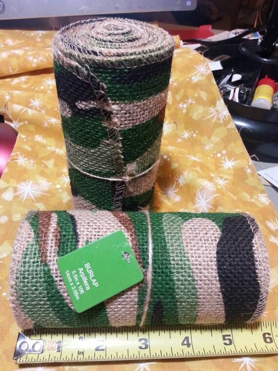Roll Of Jute Mesh Burlap Ribbon Camo Camoflage 100 Jute A