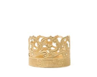 Crown Cake Topper, Bright Gold Crown, Mini Crown