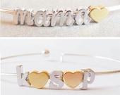 Build Your Own bangle Bracelet Any Charms Bracelet Mommy Bangle Mothers Bracelet Personalized mothers day gift Personalized Valentines day