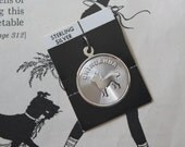 Vintage Sterling Dog Charm Vintage Sterling Chihuahua Dog Disc Charm Sterling Silver Charm for Bracelet Sterling Silver Charm