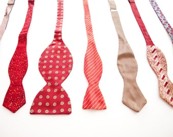 Vintage Bow Tie Collection / 9 ties / Instant collection