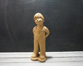 Lee Bortin Little Boy In Overalls