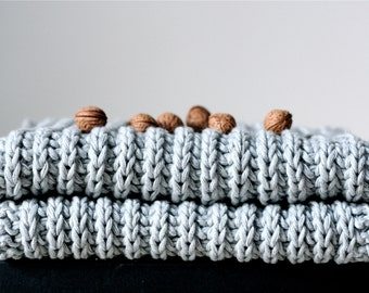 Knit Scarf in Light Blue --- Ready to ship