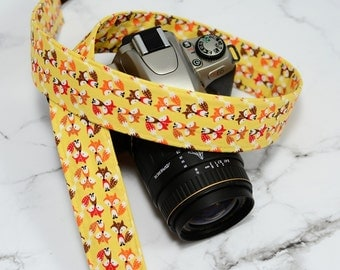 dSLR Camera Strap - Foxy Camera Strap - Rustic Camera Strap - Fox, Foxes - Christmas Present Ideas