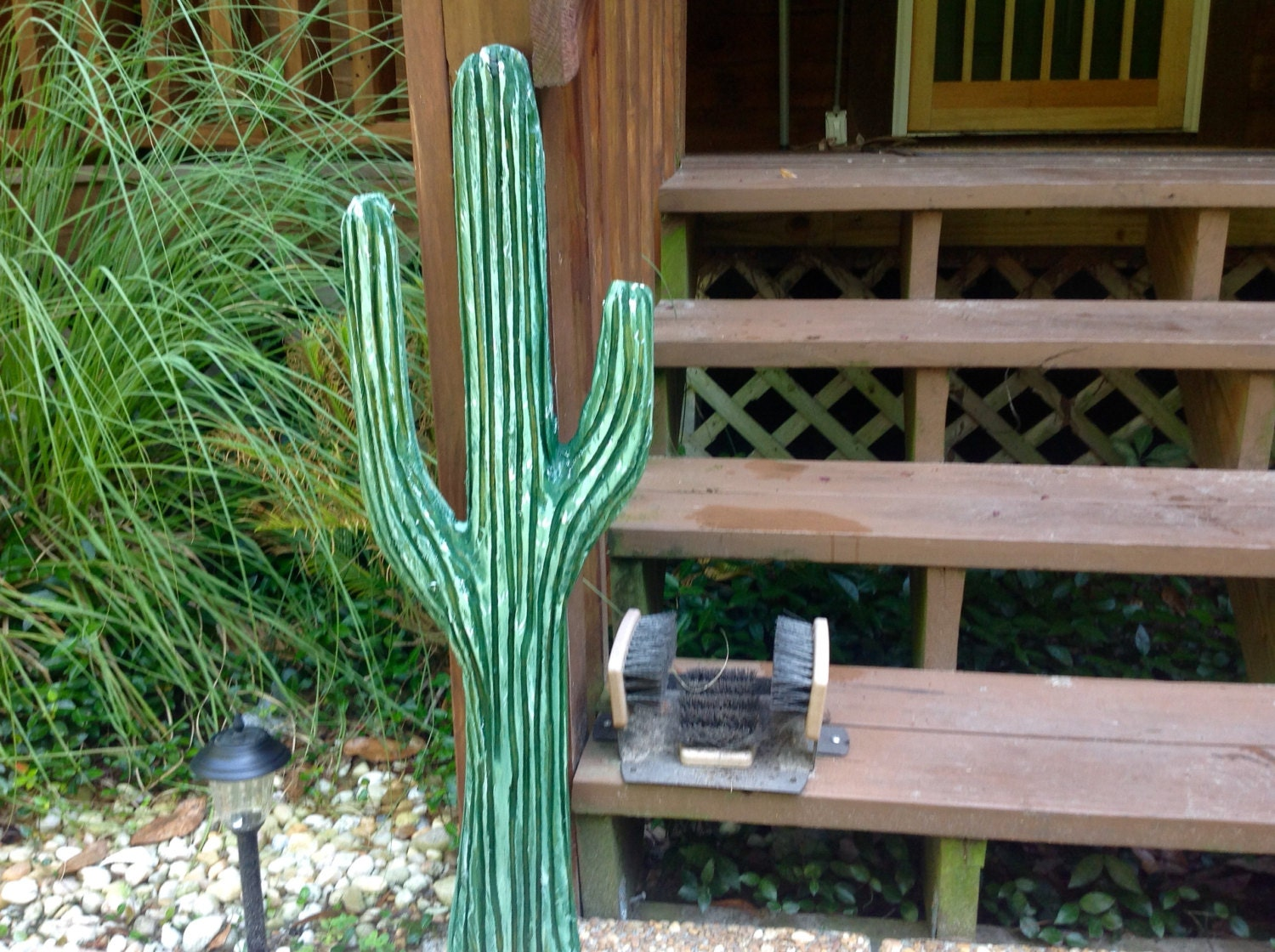 Cactus 3ft chainsaw sequoia cacti western carving indoor ... on Sequoia Outdoor Living id=36655