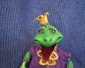 Frog Prince Cloth and Clay Art Doll