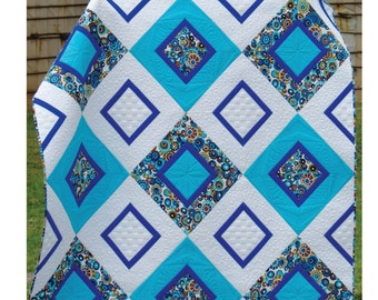 Quilt PATTERN Diamond Delight Sew You Like It PAPER Version