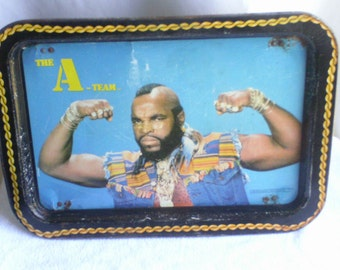 Vintage  1983  The  A-Team  Mr. T   Dinner  Tray
