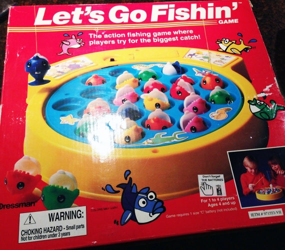 vintage let 39 s go fishin game 1994 100 complete board by
