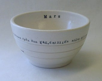 Mars Porcelain Bowl