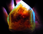 HUGE Museum quality Deeply Bi-Colored Sherry & Sky Blue Terminated Topaz - Lucid Dreams, Love, Protection, Wisdom, Rebirth, Love, Happiness