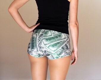 Hundred Dollar Bill Roller Derby Shorts - Pre-Order