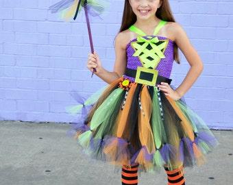 Girls Witch Costume- Witch costume- Witch tutu dress- Halloween Costume- wicked witch