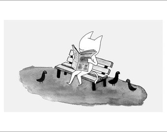 """Benched - fine art print 5""""x7"""""""