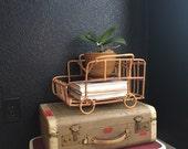 vintage bamboo rattan car basket