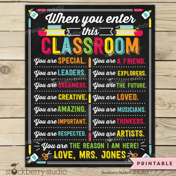 Classroom Decor Items ~ Items similar to classroom decor sign