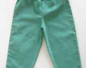 Green Pants for Baby Boy/Girl, Corduroy Pants