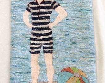 Vintage Bathing Beau Rug Hooking Pattern