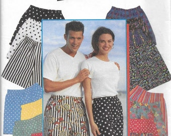 Simplicity 9057 Men's 90s Boxer Shorts Sewing Pattern Hip 29 to 49