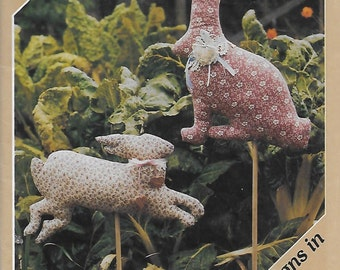 The Weathervane Pattern Series Rabbit Two Designs in 3 Sizes 7x8 3/4, 12 1/4x15 1/2, 11 3/4x9. Sewing Pattern