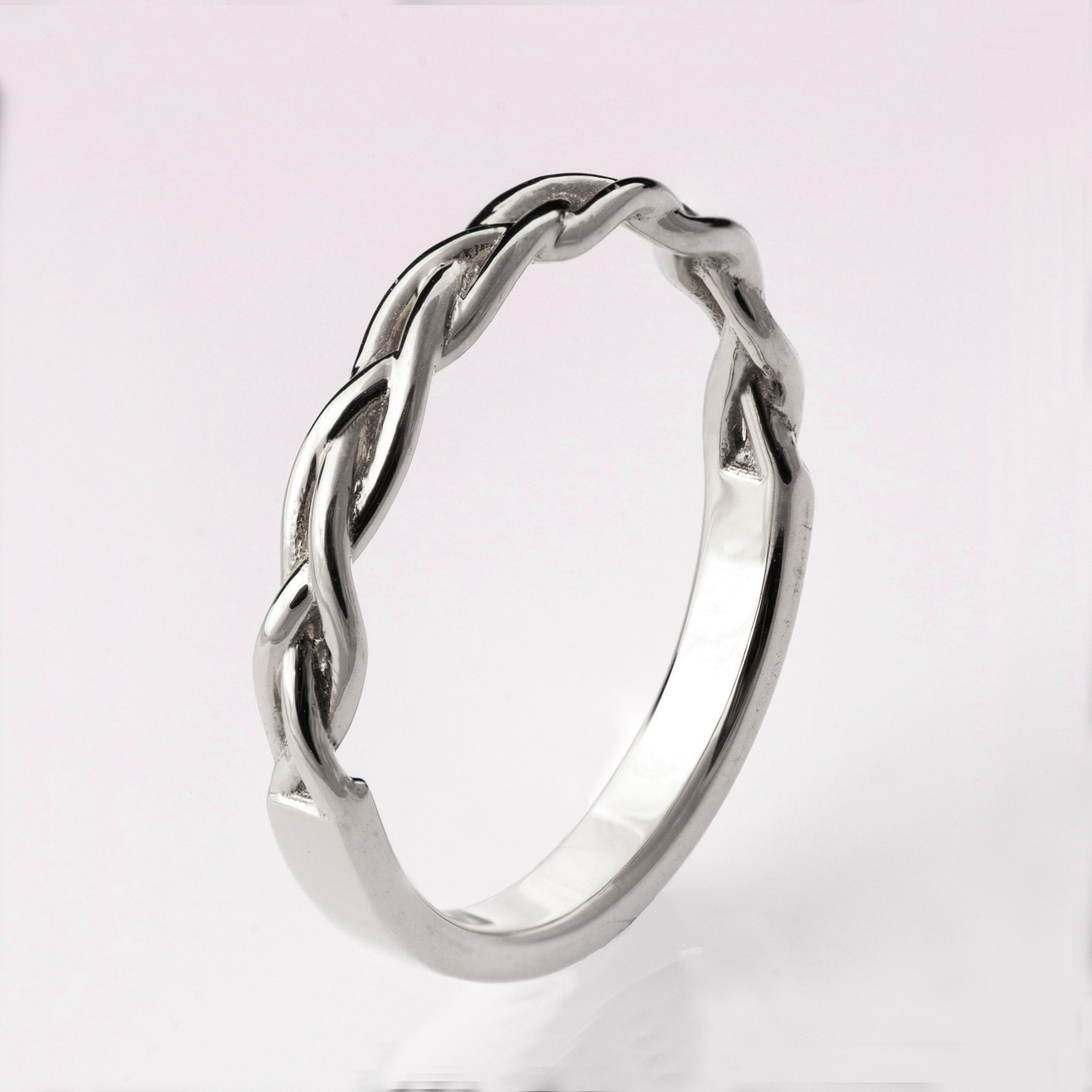 Braided Ring No 4 Platinum Ring Wedding Band Platinum