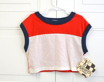 1980s NOS Boys' Cropped Athletic Shirt