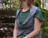 Aglæcwif Wrap Top ~ Light Grey Jersey ~ Made to Measure ~ Fairy Wear ~ Goddess ~ Quintessential Forest Camouflage ~ technodolly