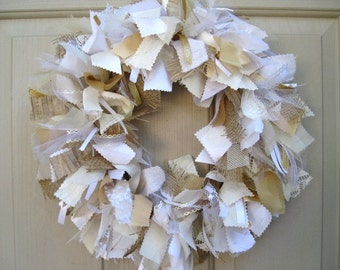 Wedding Decorations, Wedding Wreath, Rustic Wedding Decor, Summer Wedding, Shower Decor, White Wreath, Country Boho Beach Prairie Wedding