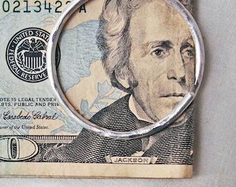 Sterling Silver Money Clip Ring B
